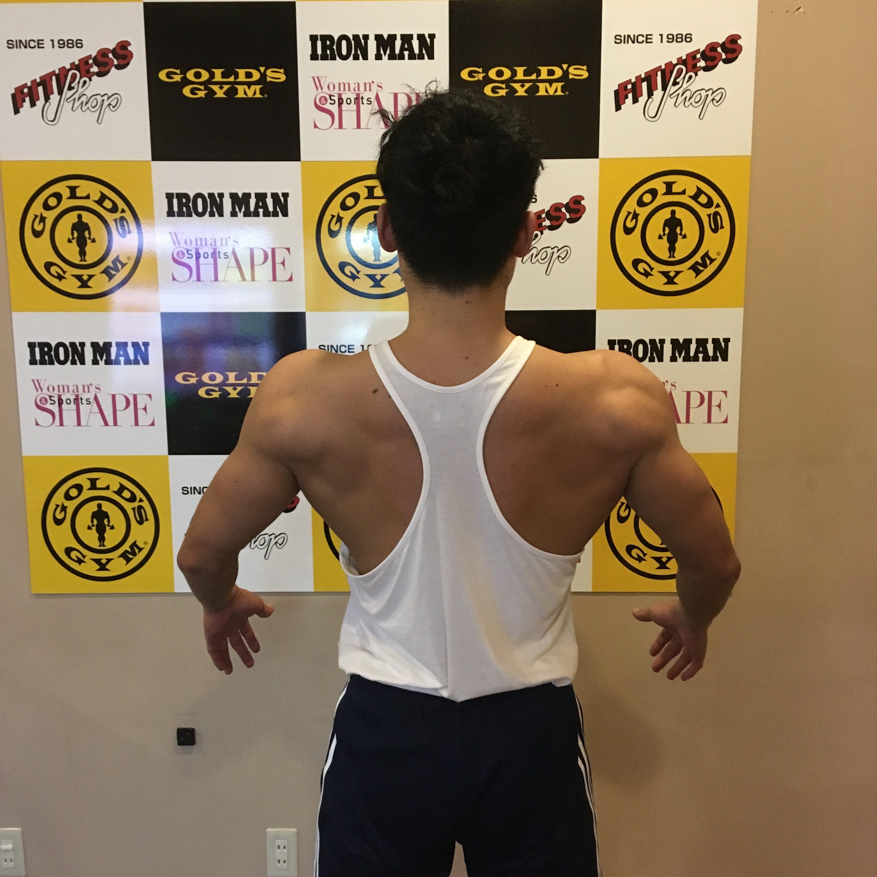【減量4日目】高重量で肩のトレーニング